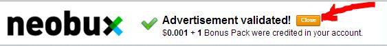 Необукс - реклама засчитана